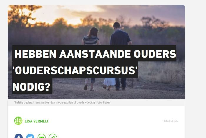 Ouderschapscursus Metro nieuws 22022018